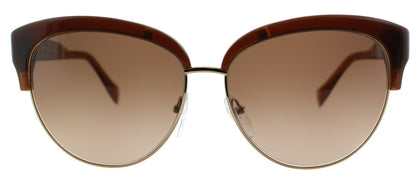 Pucci EP 724S 210 Brown And Gold And Cat-Eye Plastic Sunglasses