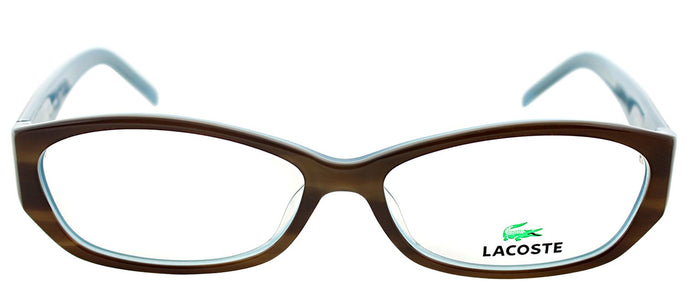 Lacoste LA 2625 Cat-Eye Metal Eyeglasses - Light Havana with Blue