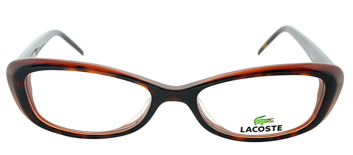 Lacoste LA 2611 Cat-Eye Metal Eyeglasses - Tortoise Brown