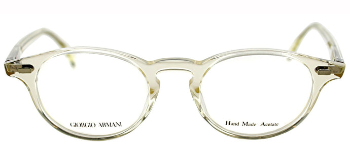 Giorgio Armani GA 786 Round Metal Eyeglasses - Crystal Honey Transparent