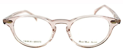 Giorgio Armani GA 786 Round Metal Eyeglasses - Light Pink