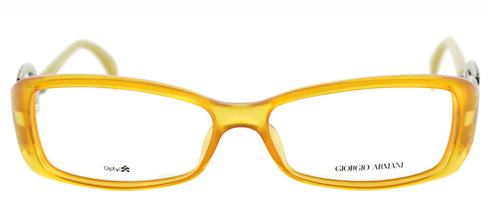 Giorgio Armani GA 720 Rectangle Metal Eyeglasses - Fire Yellow