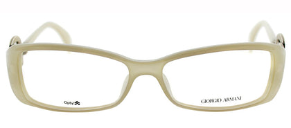 Giorgio Armani GA 720 Rectangle Metal Eyeglasses - Opal White