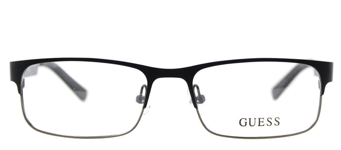 Guess GU 1731 Rectangle Metal Eyeglasses - Black Gunmetal