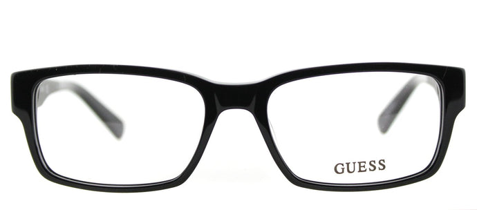 Guess GU 1775 BLK Black Rectangle Plastic Eyeglasses
