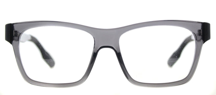 McQ MQ 0015O Rectangle Plastic Eyeglasses - Transparent Grey