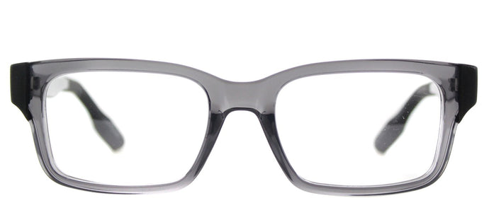 McQ MQ 0016O Rectangle Plastic Eyeglasses - Transparent Smoke