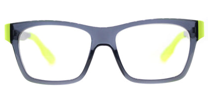 McQ MQ 0015O Rectangle Plastic Eyeglasses - Transparent Grey Green
