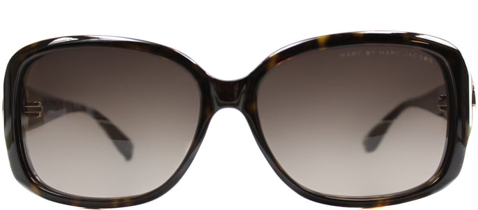 Marc By Marc Jacobs MMJ 302 Rectangle Plastic Sunglasses - Dark Havana with Brown Gradient Lens