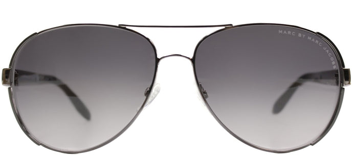 Marc By Marc Jacobs MMJ 378 Aviator Metal Sunglasses - Dark Ruthenium with Grey Gradient Lens