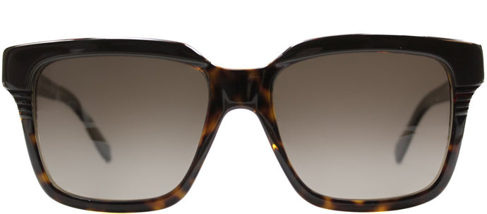 Marc By Marc Jacobs MMJ 388 Rectangle Plastic Sunglasses - Brown Havana Hony with Brown Polarized Lens