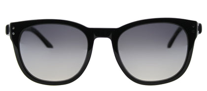 Marc by Marc Jacobs MMJ 458/S Square Plastic Sunglasses - Black Grey with Silver Mirror Lens