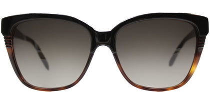 Marc By Marc Jacobs MMJ 391 Rectangle Plastic Sunglasses - Dark Tortoise Black with Brown Gradient Lens