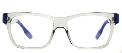 McQ MQ 0015O Rectangle Plastic Eyeglasses - Crystal