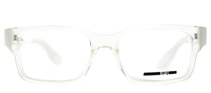 McQ MQ 0016O Rectangle Plastic Eyeglasses - Crystal