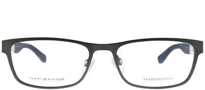 Tommy Hilfiger TH 1284 FO5 Dark Ruthenium Rectangle Metal Eyeglasses