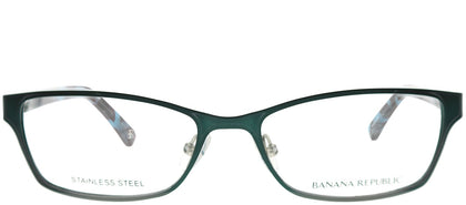 Banana Republic BP Rianna FC6 Shiny Teal Rectangle Metal Eyeglasses