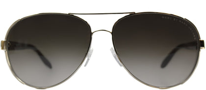 Marc By Marc Jacobs MMJ 378 Aviator Metal Sunglasses - Light Gold with Brown Gradient Lens