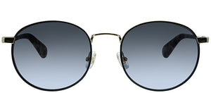 Kate Spade Adelais WR7 Black Havana Oval Metal Sunglasses