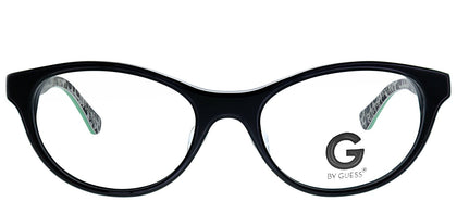 G by Guess GU 104 BLKGRN Black Green Cat-Eye Plastic Eyeglasses