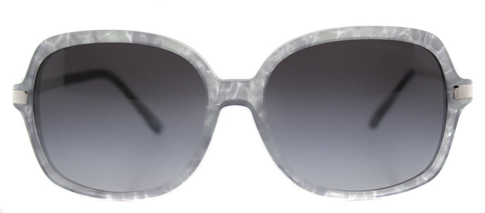 Michael Kors MK 2024 Square Plastic Sunglasses - Grey Pastel with Grey Gradient Lens