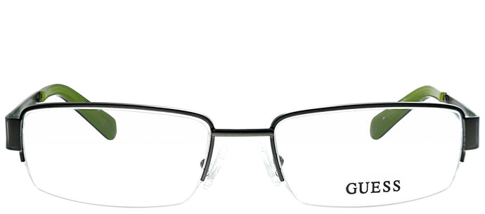 Guess GU 1767 OL Olive Semi-Rimless Metal Eyeglasses
