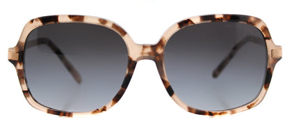 Michael Kors MK 2024 Square Plastic Sunglasses - Pink Tortoise with Grey Gradient Lens