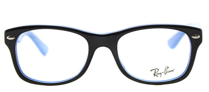 Ray-Ban Jr RY 1528 Square Plastic Eyeglasses - Black on Azure Blue