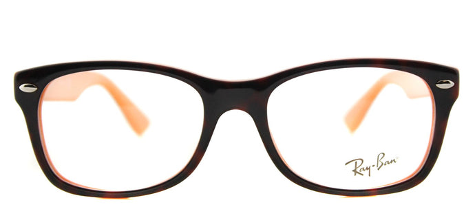 Ray-Ban Jr RY 1528 Square Plastic Eyeglasses - Havana on Orange