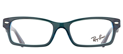Ray-Ban Jr RY 1530 Square Plastic Eyeglasses - Blue On Fluorescent Blue