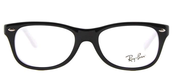 Ray-Ban Junior RY 1544 Rectangle Plastic Eyeglasses - Black on White