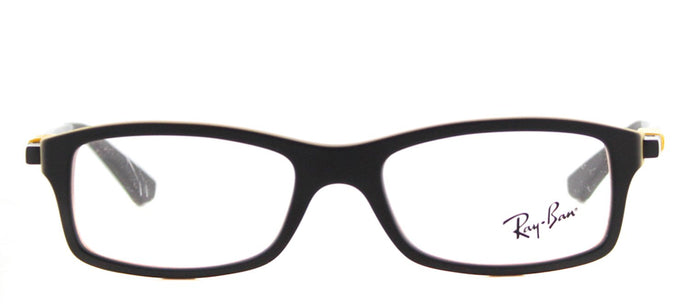 Ray-Ban Junior RY 1546 Rectangle Plastic Eyeglasses - Matte Black on Matte Yellow