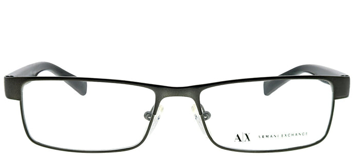 Armani Exchange AX 1009 6037 Satin Gunmetal Rectangle Metal Eyeglasses