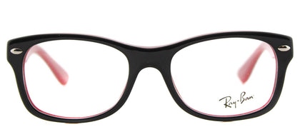 Ray-Ban Jr RY 1528 Square Plastic Eyeglasses - Black on Red