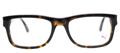 Puma PU 0047O Rectangle Plastic Eyeglasses - Havana