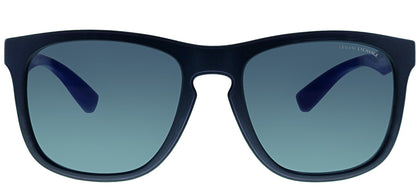 Armani Exchange AX 4058 819887 Matte Dark Blue Square Plastic Sunglasses