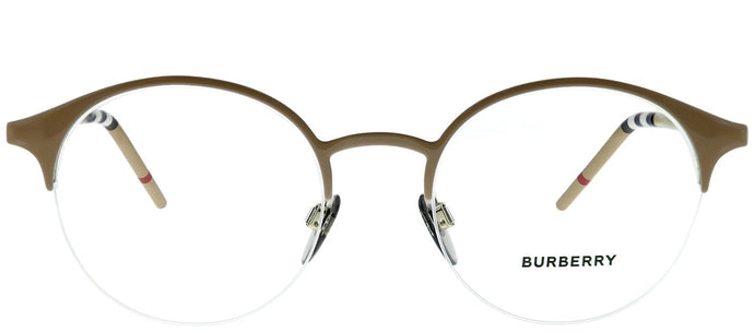 Burberry BE 1328 1236 Light Brown Round Metal Eyeglasses