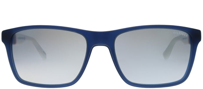 Tommy Hilfiger TH 1405/S H10 DK Blue Rectangle Plastic Sunglasses