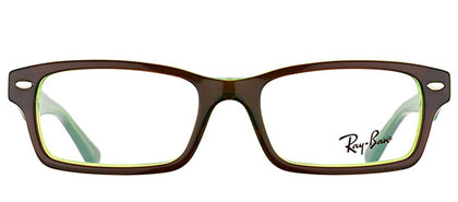 Ray-Ban Jr RY 1530 Square Plastic Eyeglasses - Brown On Fluorescent Green