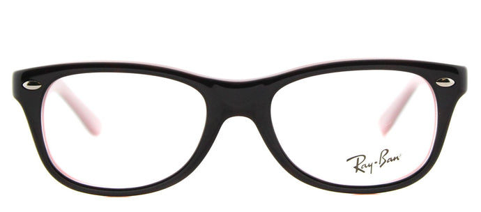 Ray-Ban Junior RY 1544 Rectangle Plastic Eyeglasses - Havana on Opal Pink