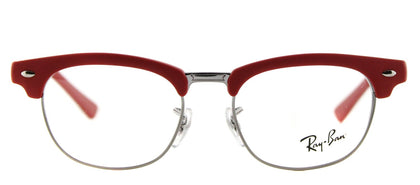 Ray-Ban Junior RY 1548 Clubmaster Plastic Eyeglasses - Matte Red Silver