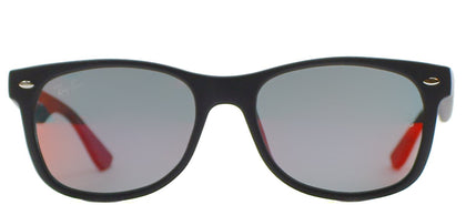 Ray-Ban Jr RJ 9052 Wayfarer Plastic Sunglasses - Black with Green Orange Mirror Lens