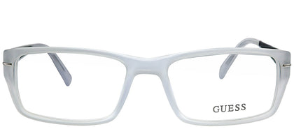 Guess GU 1762 MCRY Matte Crystal Rectangle Plastic Eyeglasses