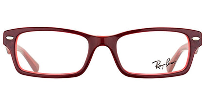 Ray-Ban Jr RY 1530 Square Plastic Eyeglasses - Red On Fluorescent Red