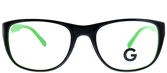 G by Guess GU 204 BLKGRN Black Green Rectangle Plastic Eyeglasses