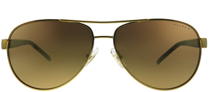 Ralph Ralph Lauren RA 4004 1012T Gold Aviator Metal Sunglasses