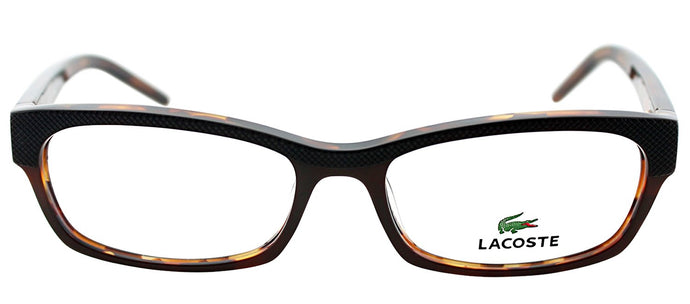 Lacoste LA 2638 Rectangle Metal Eyeglasses - Light Havana