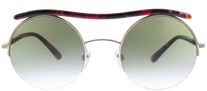 Giorgio Armani AR 6082 30118E Rose Gold Round Metal Sunglasses