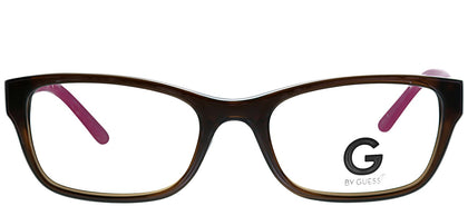 G by Guess GU 105 BRN Brown Pink Rectangle Plastic Eyeglasses