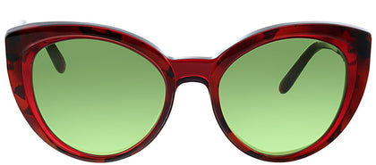 Salvatore Ferragamo SF 891 289 Transparent Red Cat-Eye Plastic Sunglasses